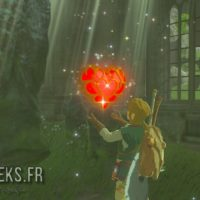 Breath of the Wild Link obtient un coeur de vie