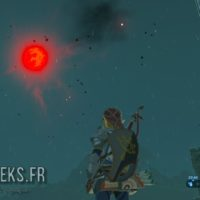 Breath of the Wild Link regarde la lune de sang
