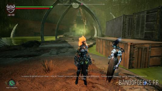 Darksiders III Fury discute avec la Guetteuse