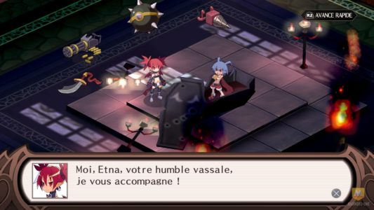 Disgaea 1 Complete Edna a galéré pour réveiller Laharl
