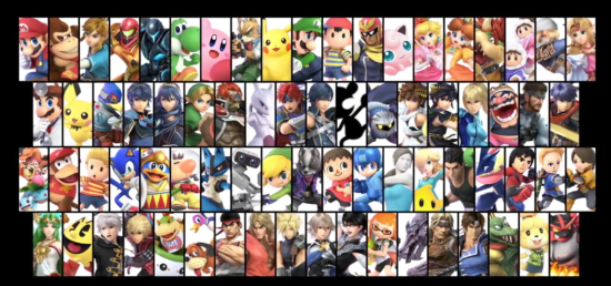 Super Smash Bros Ultimate roster complet