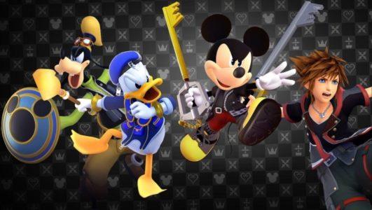 Kingdom Hearts III Dingo Donald Mickey et Sora se préparent au combat