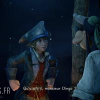 Kingdom Hearts III Sora et Dingo dans le monde de Pirates des Caraïbes
