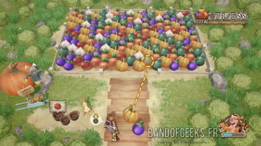 Kingdom Hearts III mini jeu des légumes chez Whinnie