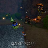 Kingdom Hearts III Sora combat des Sans Coeur en l'air