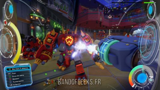 Kingdom Hearts III mode FPS Sora attaque un robot