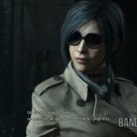 Resident Evil 2 Ada avec ses lunettes de soleil et son imperméable