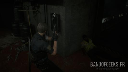 Resident Evil 2 cadavre de zombie gilet jaune