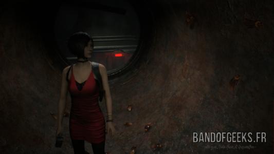 Resident Evil 2 Ada en robe rouge de soirée