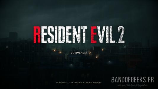 Resident Evil 2 écran titre