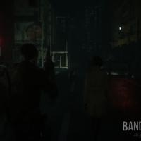 Resident Evil 2 Léon et Ada marchent dans la ville