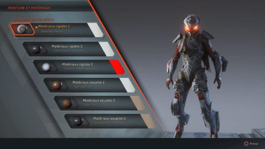 Anthem Menu Forge Apparence Couleurs
