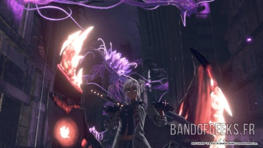 God Eater 3 Protag Aka-0 pose contraste Test Band of Geeks