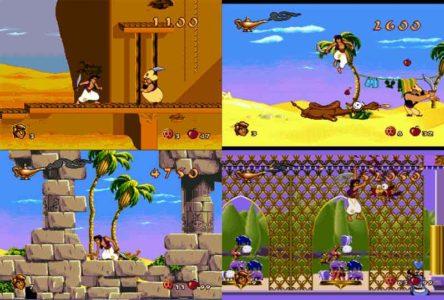 Aladdin megadrive plusieurs niveaux assemblés