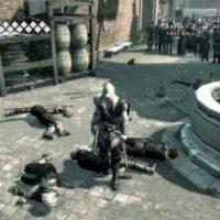 Assassin's Creed II Ezio au milieu de cadavres de gardes