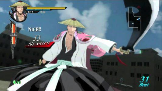 Bleach Soul Resureccion Kyoraku sort son zanpakuto