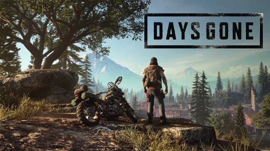 Days Gone Deacon et sa moto devant l'horizon