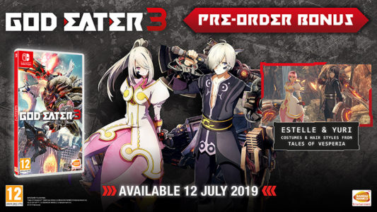 God Eater 3 Switch Tales of Versperia bonus costumes Band of Geeks
