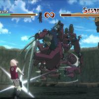 Naruto Ultimate Ninja Storm 2 Sakura affronte Sasori