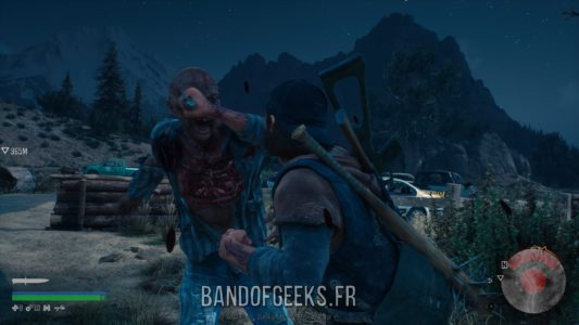 Days Gone Deacon plante son couteau dans l'oeil d'un mutant