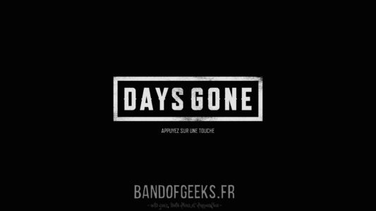 Days Gone écran titre