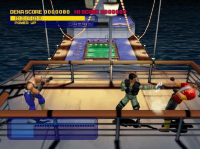 Dynamite Cop Dreamcast Bruno attaque un ennemi