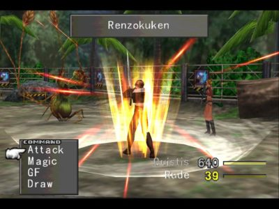 Final Fantasy VIII Squall lance son Limit Break