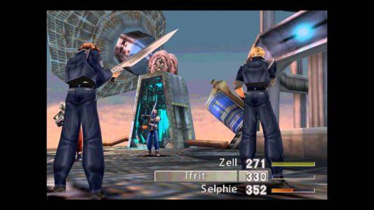 Final Fantasy VIII Squall et Zell contre un soldat