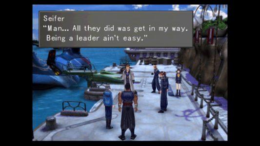 Final Fantasy VIII Seifer Raijin et Fujin discutent avec Squall