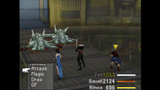Final Fantasy VIII combat contre des Boss Zell fatigué