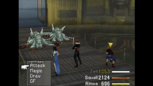 Final Fantasy VIII combat contre des Boss Zell fatigué