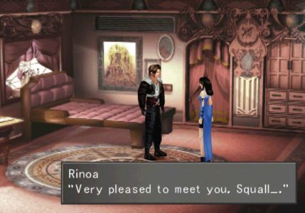 Final Fantasy VIII Linoa se présente à Squall