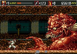 Shinobi III combat de Boss