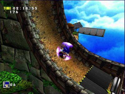 Sonic Adventures Sonic court vite