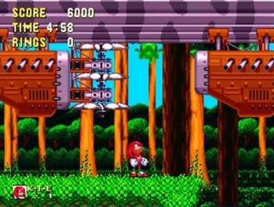 Sonic et Knuckels Knuckles regarde un dirigeable