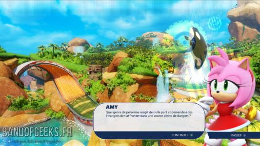 Team Sonic Racing Amy discute en mode Histoire