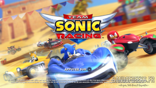 Ecran titre Team Sonic Racing