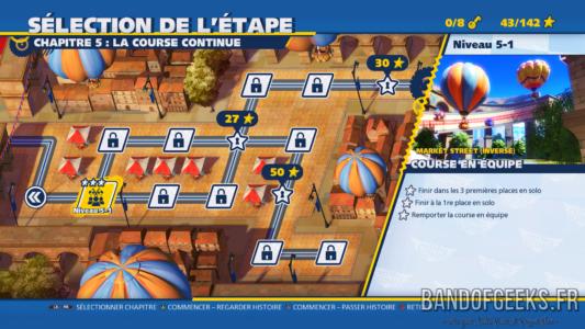 Team Sonic Racing carte du mode Histoire