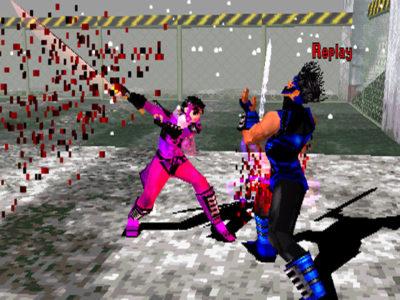 Bushido Blade un personnage se fait trancher en deux