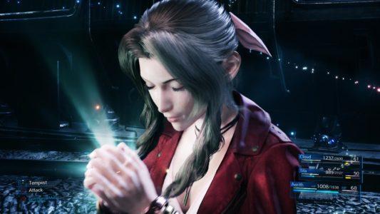 Final Fantasy VII Remake Aerith prépare une attaque