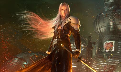 Final Fantasy VII Remake Sephiroth dans les flammes