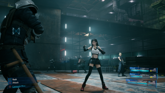 Final Fantasy VII Remake Tifa en combat