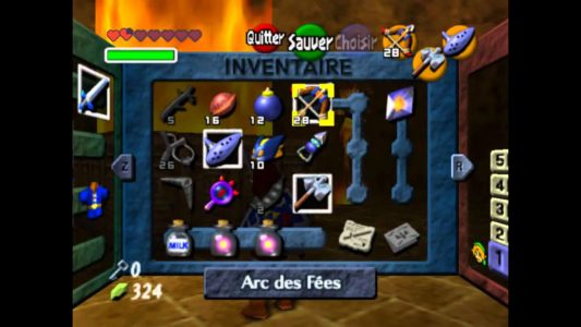 Ocarina of Time inventaire