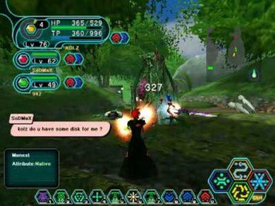 Phantasy Star Online discussion en combat