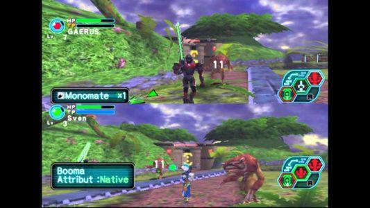 Phantasy Star Online écran splitté