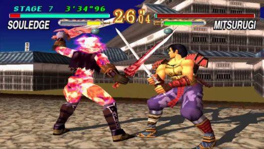 Soul Blade Mitsurugi affronte SoulEdge