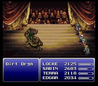 Final Fantasy VI combat dans le théatre