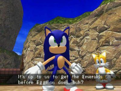 Sonic Adventures Sonic et Tails discutent