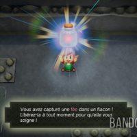 Link's Awakening Link capture une fée dans un flacon
