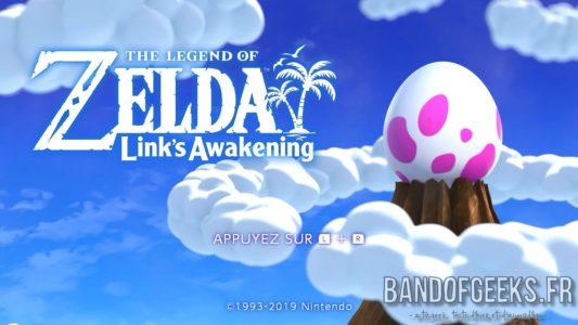 Link's Awakening écran titre